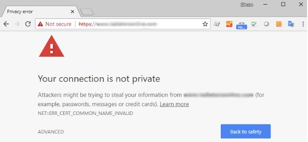 Google No SSL Warning